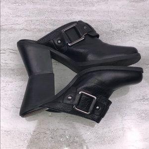 GIANNI BINI Black Leather Mules